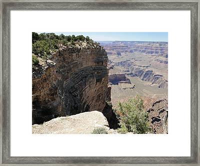 Standing On The Edge Of Life And Death At The Grand Canyon Framed Print