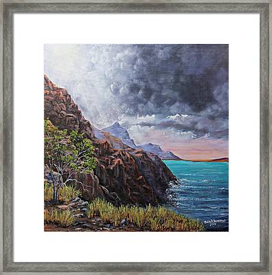 Standing On The Solid Rock Framed Print by Julie Townsend