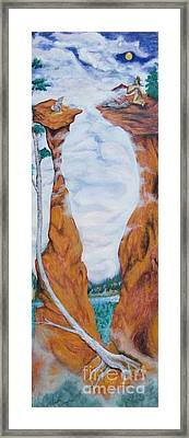Standing Rock Dragon Framed Print