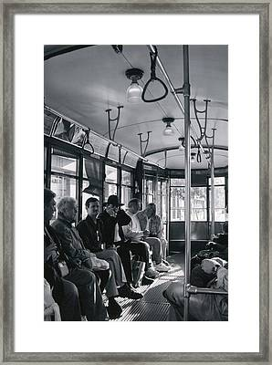 Framed Print featuring the photograph Standing Room Only by Steve Godleski