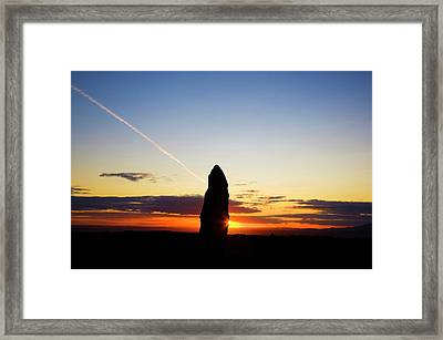 Standing Stone, Monavullagh Mountains Framed Print by Panoramic Images