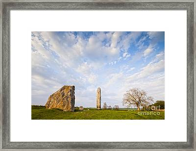 Standing Stones Avebury Wiltshire Framed Print by Colin and Linda McKie