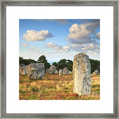 Standing Stones Carnac Brittany Framed Print by Colin and Linda McKie
