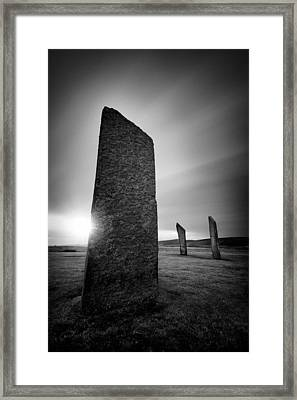 Standing Stones Of Stenness Framed Print by Dave Bowman