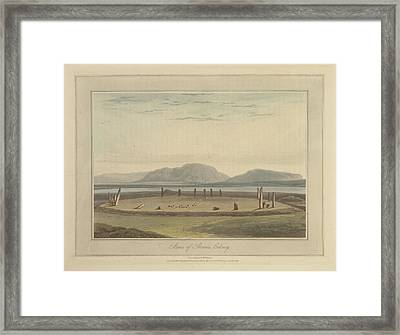 Standing Stones Of Stennis On Orkney Framed Print by British Library