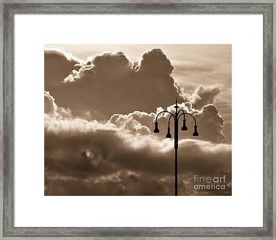 Standing Strong In Sepia Framed Print