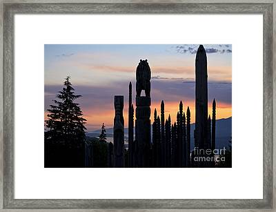 Framed Print featuring the photograph Standing Tall At Sunset by Maria Janicki