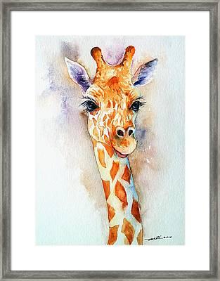 Standing Tall_giraffe Framed Print by Arti Chauhan