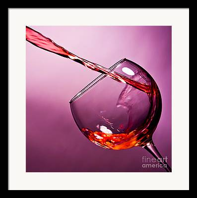 Wine Pouring Framed Prints