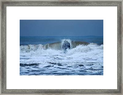 Dancing Of The Waves Framed Print