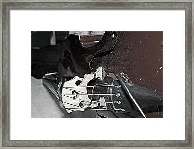 Standup Bass At Rest Framed Print by Andy Crawford