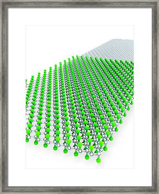 Stanene Sheet Framed Print by Ramon Andrade 3dciencia