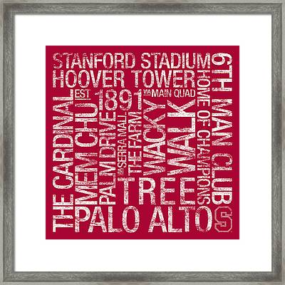 Stanford College Colors Subway Art Framed Print