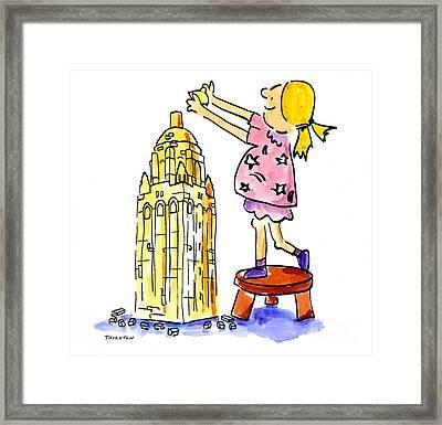 Stanford Hoover Tower Building Blocks Framed Print