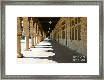 Stanford University Main Quad Palo Alto California Dsc678 Framed Print by Wingsdomain Art and Photography