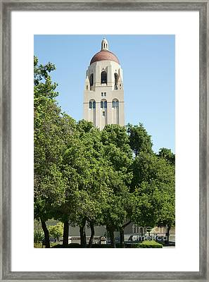 Stanford University Palo Alto California Hoover Tower Dsc677 Framed Print by Wingsdomain Art and Photography