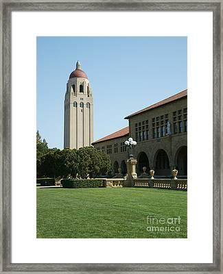 Stanford University Palo Alto California Hoover Tower Dsc688 Framed Print by Wingsdomain Art and Photography