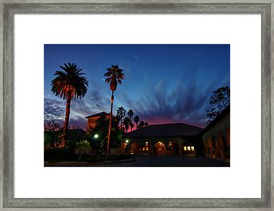 Stanford University Quad Sunset Framed Print by Scott McGuire