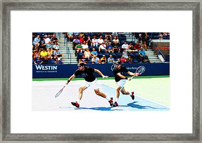 Stanislas Wawrinka In Action Framed Print by Nishanth Gopinathan
