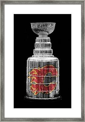 Stanley Cup Calgary Framed Print