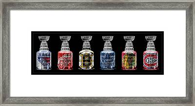 Stanley Cup Original Six Framed Print by Andrew Fare