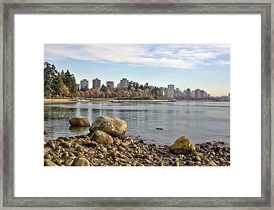 Stanley Park Beach Framed Print