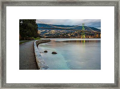 Stanley Park Seawall View Framed Print by James Wheeler