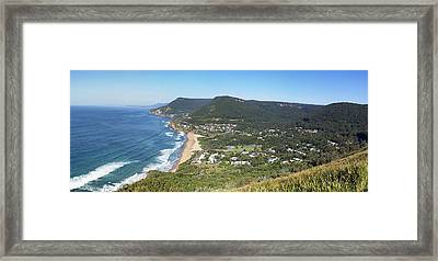Stanwell Park Panorama Framed Print
