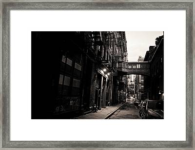 Staple Street - Tribeca - New York City Framed Print by Vivienne Gucwa