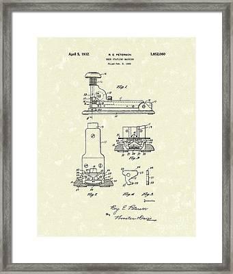 Stapler 1932 Patent Art Framed Print by Prior Art Design