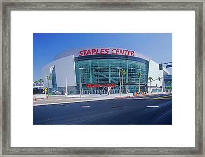 Staples Center, Home To The Nbas Los Framed Print