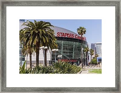 Staples Center In Los Angeles California Framed Print by Paul Velgos