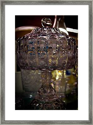 Star And Moon Glass Compote Framed Print by David Patterson