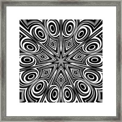 Star And Swirls Framed Print by Hakon Soreide
