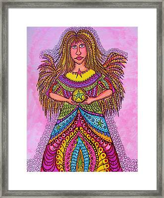 Star Angel Framed Print by Gerri Rowan