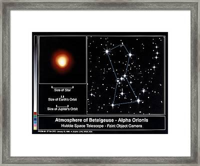 Star: Betelgeuse, 1995 Framed Print by Granger