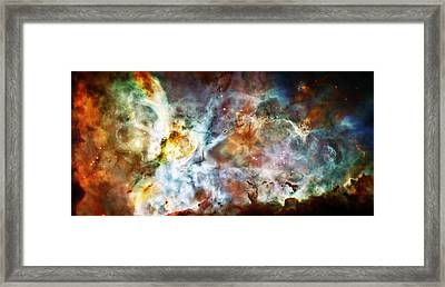 Star Birth In The Carina Nebula  Framed Print