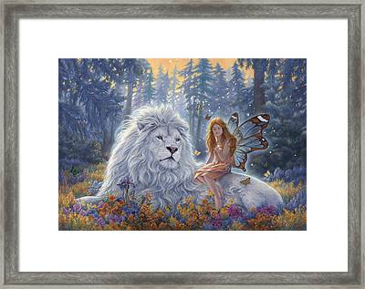 Star Birth Framed Print by Lucie Bilodeau