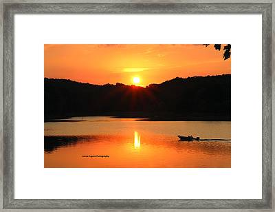 Star Burst Sunset Framed Print