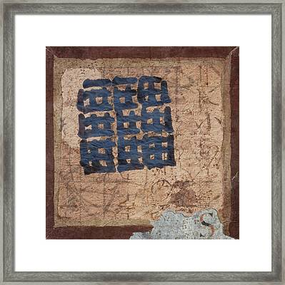Star Chart Faded Framed Print