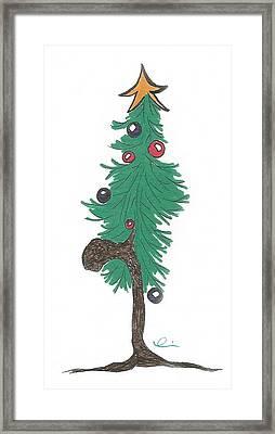 Star Christmas Tree Framed Print