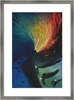 Star Framed Print by Christopher Bennett