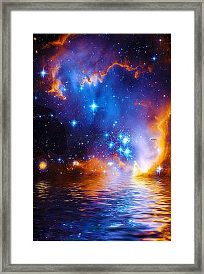 Framed Print featuring the digital art Stars As Diamonds by Chuck Mountain
