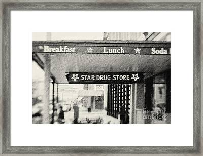 Star Drug Store Marquee Framed Print by Scott Pellegrin