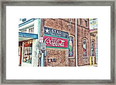 Star Drug Store Wall Sign - Hdr Framed Print by Scott Pellegrin