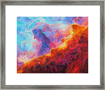 Star Dust Angel Framed Print by Julie Turner