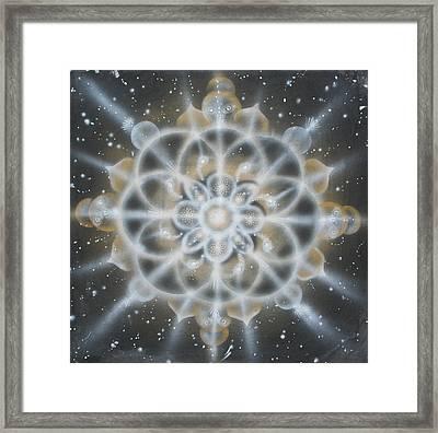 Star Framed Print by Elizabeth Zaikowski