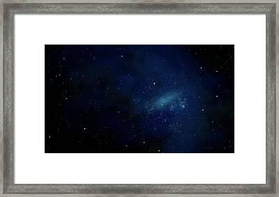 Star Field Mural Framed Print