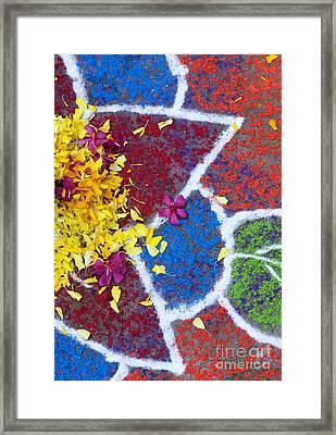 Star Flower Rangoli Design  Framed Print