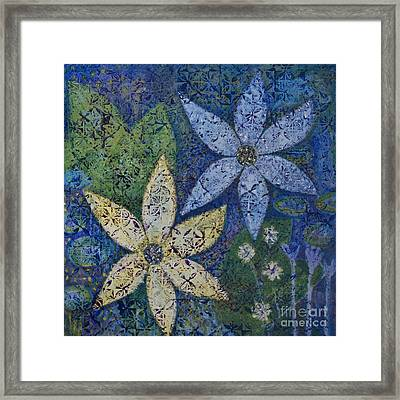 Star Flowers Framed Print by Jennifer Grace